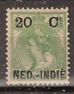 Ned Indie 1900 Hulpuitgifte 20 Ct Op 20 Ct NVPH 34 Ongestempeld, Scheur, Tier, Riss - Nederlands-Indië
