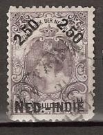 Ned Indie 1900 Hulpuitgifte 2,50 Op 2,5 Gulden NVPH 37B 11x11 - Nederlands-Indië