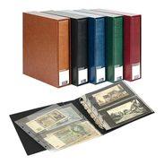 Lindner 3532BN-B PUBLICA M Banknote Album For 80 Banknotes/postcards, Blue - Stockbooks