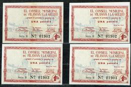 BILLET ESPAGNE ESPAÑA GUERRA CIVIL VILANOVA I LA GELTRU 1937 - Espagne