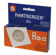 Lindner 8320048 HARTBERGER Coin Holders Self Adhesive, 48 Mm - Pack Of 25 - Zubehör