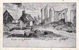 AK La Boiselle - Ruinen - Künstlerkarte Hägele - 1915 (31701) - Albert