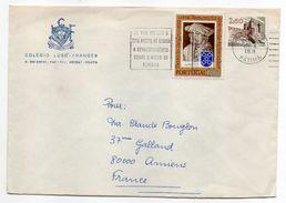 Portugal -- 1974 - Lettre De PORTO  Pour AMIENS-80 (France)--composition De Timbres--Colegio LUSO-FRANCES - 1910-... Republik
