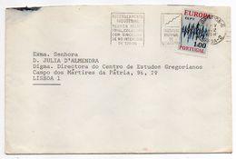 Portugal -- 1972 - Lettre De LISBONNE  Pour  LISBONNE--timbre EUROPA  Seul Sur Lettre--cachet  Flamme - 1910-... République