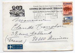 Portugal --lettre De LISBONNE  Pour AMIENS-80 (France)--timbre EUROPA + Complt Sur Lettre--cachet  Flamme ZOO-Cro Est Gr - 1910-... Republik