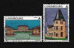 LUXEMBURG - Mi-Nr. 1495 - 1496 Sehenswürdigkeiten Gestempelt (4) - Gebruikt