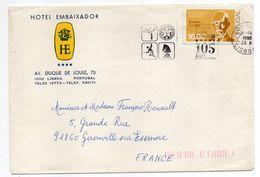 Portugal-lettre De LISBONNE  Pour GIRONVILLE (France)--timbre Seul Sur Lettre--cachet  Flamme+hotel Embaixador - 1910-... Republik