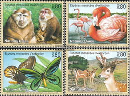 UN - Geneva 330-333 (complete Issue) Unmounted Mint / Never Hinged 1998 Affected Animals - Geneva - United Nations Office
