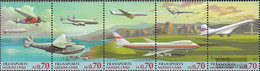 UN - Geneva 314-318 Five Strips (complete Issue) Unmounted Mint / Never Hinged 1997 Transportation - Geneva - United Nations Office
