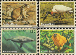 UN - Geneva 245-248 (complete Issue) Unmounted Mint / Never Hinged 1994 Affected Animals - Geneva - United Nations Office