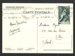 FRANCE 1936 ENTIERS YT N° 7 VIMY Premier Jour Carte Postale - France