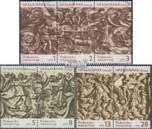 Bulgarie 2309-2315 Bande De Trois+Couples (complète.Edition.) Oblitéré 1974 Bois - Bulgaria