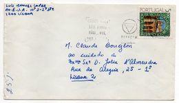 Portugal--lettre De LISBONNE  Pour LISBONNE---timbre Seul Sur Lettre--flamme STOP - 1910-... République