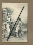 CPA - Le Petit Chaperon Rouge    -    (Phototypie A. Bergeret Et Cie , Nancy ) - Fiabe, Racconti Popolari & Leggende