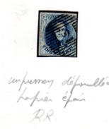 1858  Médaillon,  11 Impression Dépouillée Et Papier épais, ( Ø 2) - 1858-1862 Médaillons (9/12)
