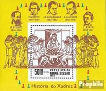 Guinée-bissau Bloc 250 (complète.Edition.) Neuf Avec Gomme Originale 1983 échecs - Guinea-Bissau