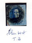 1858  20c Médaillon,  Grand Voisin (Ø 78),  Cote 12 €, - 1858-1862 Medaillen (9/12)