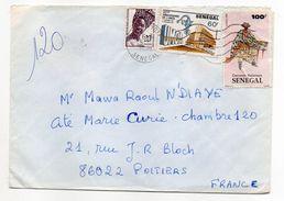 SENEGAL--1991--Lettre De DAKAR FANN   Pour  POITIERS-86  -Composition De Timbres Sur Lettre  --cachet - Sénégal (1960-...)