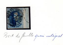 1858  20c  Médaillon,  11 Ø,   Bord De Feuille Quasi Intégral,  Cote 12 €, - 1858-1862 Medaillen (9/12)
