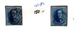 1858    20c Médaillon,   11 Et 11a Ø,  Cote 26 €,  Les Ø Sont Aussi Fort Différentes - 1858-1862 Medaillen (9/12)