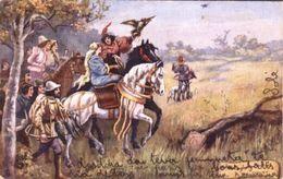 "Paul Hardy  -  ""Old English Sports"" : Falconry.   -    7018 - Tuck, Raphael"