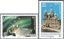 France DB53-DB54 (complète.Edition.) Neuf Avec Gomme Originale 2003 Unesco - Francia