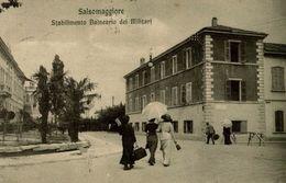 Salsomaggiore - Stab. Balneare Dei Militari - Viaggiata 1914 - 9x14 Cm  (2 Foto) - Italia