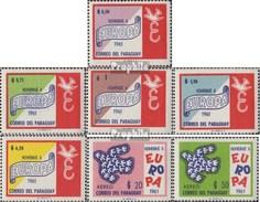 Paraguay 986-992 (completa Edizione) MNH 1961 Europa - Paraguay