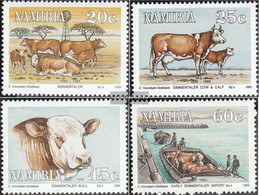 Namibia - Southwest 739-742 (complete Issue) Unmounted Mint / Never Hinged 1993 Simmentaler-Cattle - Namibia (1990- ...)
