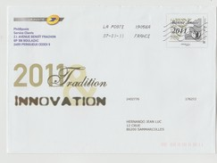 "France : Entier Postal Spécial - Enveloppe 2011 Innovation Tradition Créée Pour PHIL@POSTE - ""Bonne Année 2011"" - Postal Stamped Stationery"