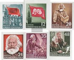 DDR 386B-391B Block Individual Brands Ungezähnt Unmounted Mint / Never Hinged 1953 Karl Marx - Nuevos