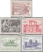 Tchécoslovaquie 949-953 (complète.Edition.) Neuf Avec Gomme Originale 1956 Plan Quinquennal - Tsjechoslowakije