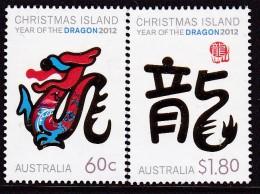 Christmas Island 2012 Year Of Dragon Sc ? Mint Never Hinged - Christmas Island