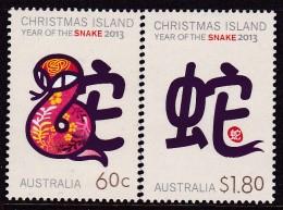 Christmas Island 2013 Year Of Snake Sc ? Mint Never Hinged - Christmas Island