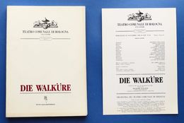 Musica Libretto E Locandina Die Walkure - Wagner - Teatro Comunale Bologna 1988 - Unclassified