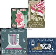 égypte 690,691,701,703 (complète.Edition.) Neuf Avec Gomme Originale 1963 MoscheeUnmpel, Yémen, U.Un. - Ungebraucht