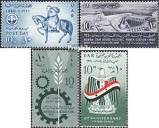 égypte 597,600,601,602 (complète.Edition.) Neuf Avec Gomme Originale 1960 Post, Kraftwerk, Loyal, République - Ungebraucht