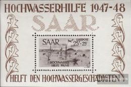 Saar Block2 Unmounted Mint / Never Hinged 1948 Flood Relief - Blocs-feuillets