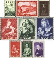 Saar 348-356 (complete Issue) Volume 1954 Completeett Unmounted Mint / Never Hinged 1954 Saarmesse - 1947-56 Protectorate