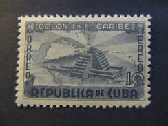 1944 - CUBA - COLUMBUS LIGHTHOUSE - SCOTT C37 AP21 10C - Airmail