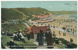 The North Side Bungalows & Cliffs, Scarborough, 1918 Postcard - England