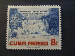 1957 - CUBA - HANABANILLA WATERFALL - SCOTT C153 AP68 8C - Airmail