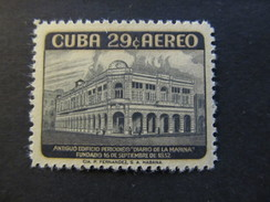 1958 - CUBA - DIARIO DE LA MARINA BUILDING - SCOTT C179 AP81 29C - Airmail
