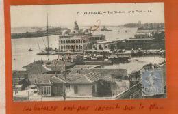 CAP   EGYPTE  PORT-SAÏD   Vue Générale - Timbre  R. F Semeuse 40c   Cachet YOKOHAMA  A MARSEILLE  1932 Nov 2017 1095 - Lettres & Documents