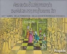 Laos Bloc 101 (complète.Edition.) Neuf Avec Gomme Originale 1984 60 Années Association échecs - Laos