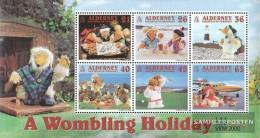United Kingdom - Alderney Block7 (complete Issue) Unmounted Mint / Never Hinged 2000 Wombles - Alderney