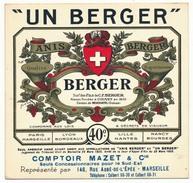 """MARSEILLE - Carte Commerciale """"Un Berger"""" (Apéritif Anisé) Représentant Comptoir Mazet à Marseille - Cartes De Visite"""