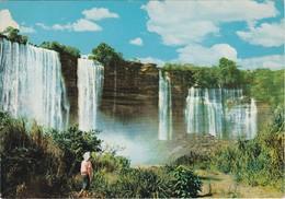 POSTCARD AFRICA - ANGOLA -  DUQUE DE BRAGANÇA WATERFALL To BRAGA PORTUGAL - MINERAL STAMP - Angola