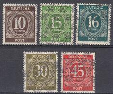 BIZONA - OCCUPAZIONE GERMANIA - 1948 - Lotto 5 Valori Nuovi MH: Yvert: 20C, 20G, 20H, 20M E 20P. - Bizone
