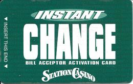Station Casino - Kansas City, MO - Slot Card - GREEN Reverse - Casino Cards